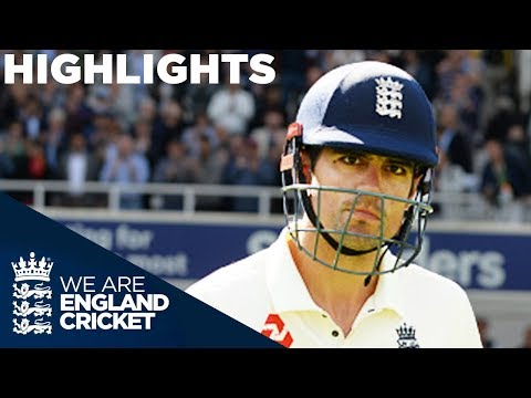 India Dominate Despite Cook's 71 | England v India 5th Test Day 1 2018 - Highlights (видео)