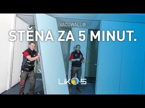 První opravdu lehce přemístitelné interiérové stěny VacuWALL