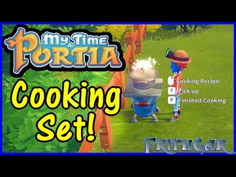 Let's Play My Time At Portia #24: Cooking Set!