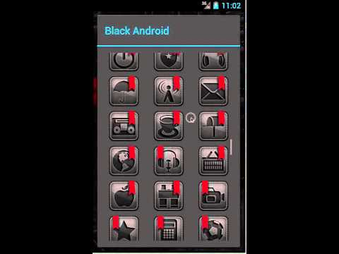 Video of TSFShell Theme Black Android