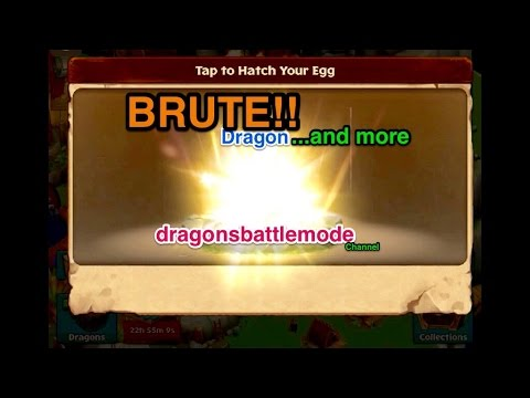 Dragons Rise Of Berk - legendary BRUTE Dragon search : ) and more!:  Today is my lucky day!! I got 3 dragons today!! I found the RUMPUS egg and I traded in enough items/artifacts to get couple more dragons, it's Awesome!!