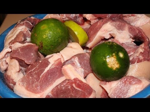How to Clean and Season  Pork to make GRIOT