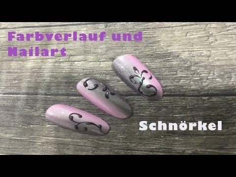 Nageldesign - Nailart  Schnörkel  Farbverlauf  Für Anfänger  SommerMädchen