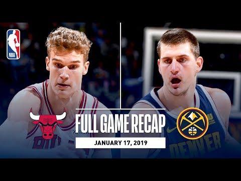 Video: Full Game Recap: Bulls vs Nuggets   Denver Knocks Down 20 Three Pointers