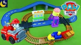 Video LOTS of Paw Patrol Toys Monster Truck Race Car Marshall Chase and Skye Adventure Bay Train Track Set MP3, 3GP, MP4, WEBM, AVI, FLV September 2018