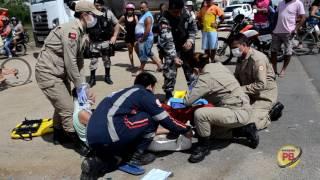 Quatro pessoas feridas em colisão de Moto na BR 230 em Sousa
