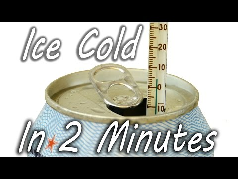 Lifehack to cool a drink in 2 minutes