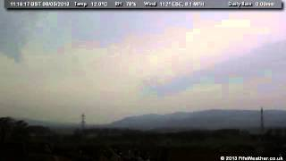 8 May 2013 - WeatherCam Timelapse - FifeWeather.co.uk