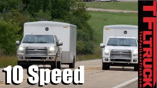 2016 vs 2017 Ford F-150 10-Speed 0-60 MPH Mashup Towing Review: How Fast is the Gen2 3.5L EcoBoost? by The Fast Lane Truck
