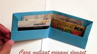 Cara melipat origami dompet origami wallet tutorial Video