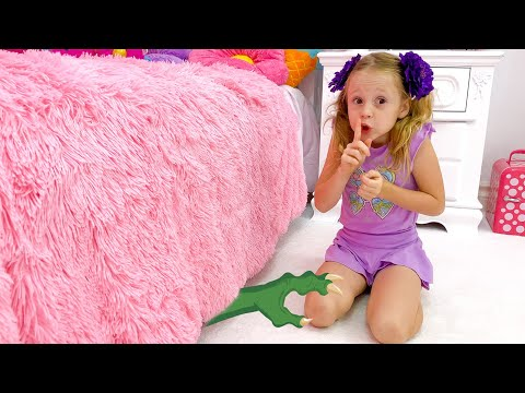Nastya and dad - Monster under the bed story
