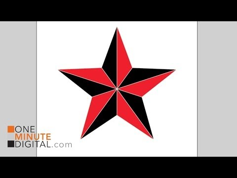 Make a Nautical or Beveled Star in Illustrator