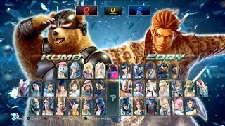 TEKKEN 7 - 28 Minutes of New Gameplay  Akuma, Eddy, Kuma, Ste...