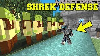 Minecraft: SHREK DEFENSE! (TOWER DEFENSE WITH SHREK!) Modded Mini-Game