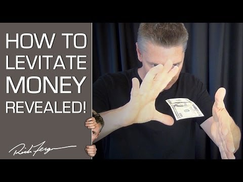 magic - Levitation Dollar Floating Magic Trick Revealed! Share with friends! Subscribe here: http://bit.ly/10GNiYs Here's a science trick that allows you to look lik...