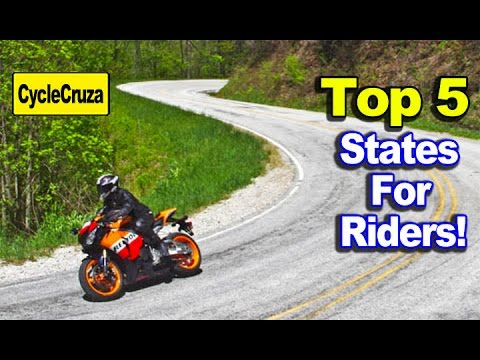 Top 5 States to Live in For Motorcycle Riders   MotoVlog