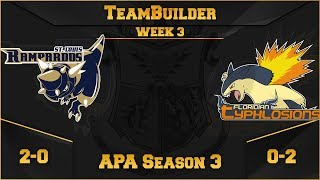 St. Louis Rampardos Team Building APA S3 W3: VS Floridian Typhlosions | Pokemon Ultra Sun and Moon by aDrive