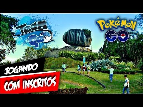 Pokémon GO Jogando Com Inscritos! Pedra da Cebola