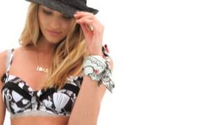 "Candice Swanepoel behind the scenes at the  ""Agua Bendita Swimwear 2014 Collection photo shoot"""