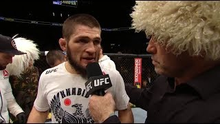 Video UFC 223: Khabib Nurmagomedov Octagon Interview MP3, 3GP, MP4, WEBM, AVI, FLV Juni 2019
