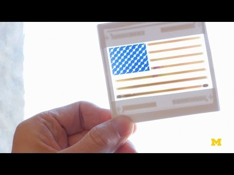 color - Colored, see-through solar cells invented at Michigan Engineering could enable 'stained' glass windows, decorative panels and even shade that makes electrici...