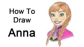 Видео: рисуем портрет Анны карандашом