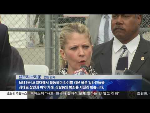 LA 대규모 갱단 소탕작전 5.17.17 KBS America News