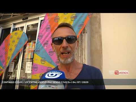 CONTAGIO COVID, I VICENTINI «SERVE PIU' SENSO CIVICO» | 04/07/2020