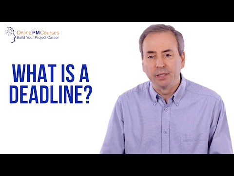 Project Management in Under 5: What is a Deadline?