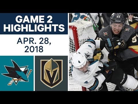 Video: NHL Highlights | Sharks vs. Golden Knights, Game 2 - Apr. 28, 2018