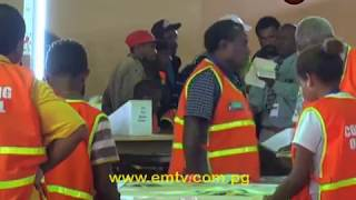 Primary count for the Morobe Regional has concluded with Pangu's, Ginson Saonu, leading with 81, 491 votes after the final count.Former Governor Luther Wenge is trailing behind with 48,001 votes.Meanwhile, counting was suspended and will resume tomorrow with quality checks.