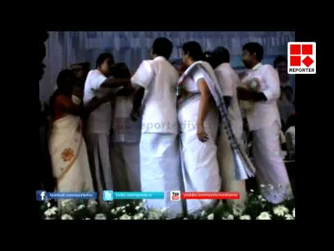 Clash in Public Meeting, PC George and K M Mani attended