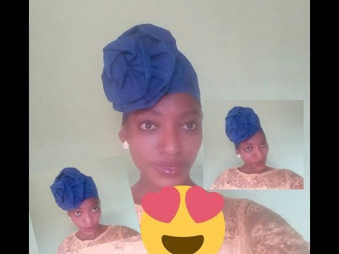 How to sew Rose Auto gele with aso oke