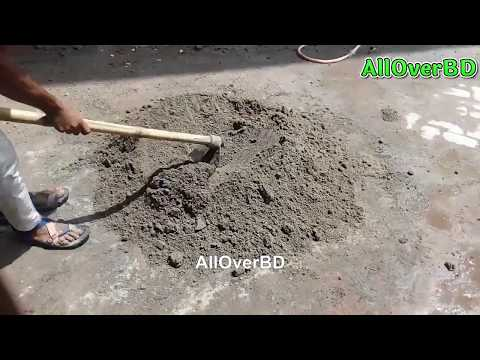 How to Mix Sand-Cement & Water | Bangladeshi Method | Mixing Sand-Cement for Bricklaying & Plaster.