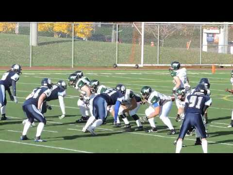 Scoring highlights November 6, 2016 Boucherville Grizzlis 13 @ North Shore Mustangs 42