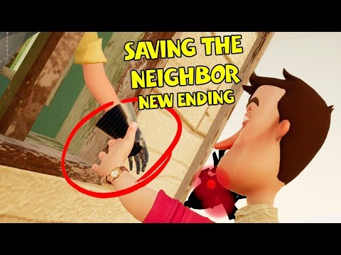 SAVING THE NEIGHBOR NEW ENDING!! | Hello Neighbor (видео)