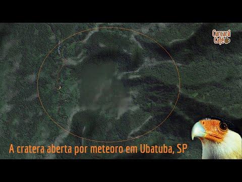 A cratera aberta por meteoro em Ubatuba, SP, será estudada.