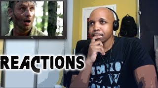 REACTION to Walking Dead Season 6 Episode 1 First Time Again 6x1