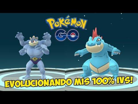 EVOLUCIONANDO TODOS MIS 100% IVS! MACHAMP Y MUCHOS MÁS! [Pokémon GO-davidpetit]
