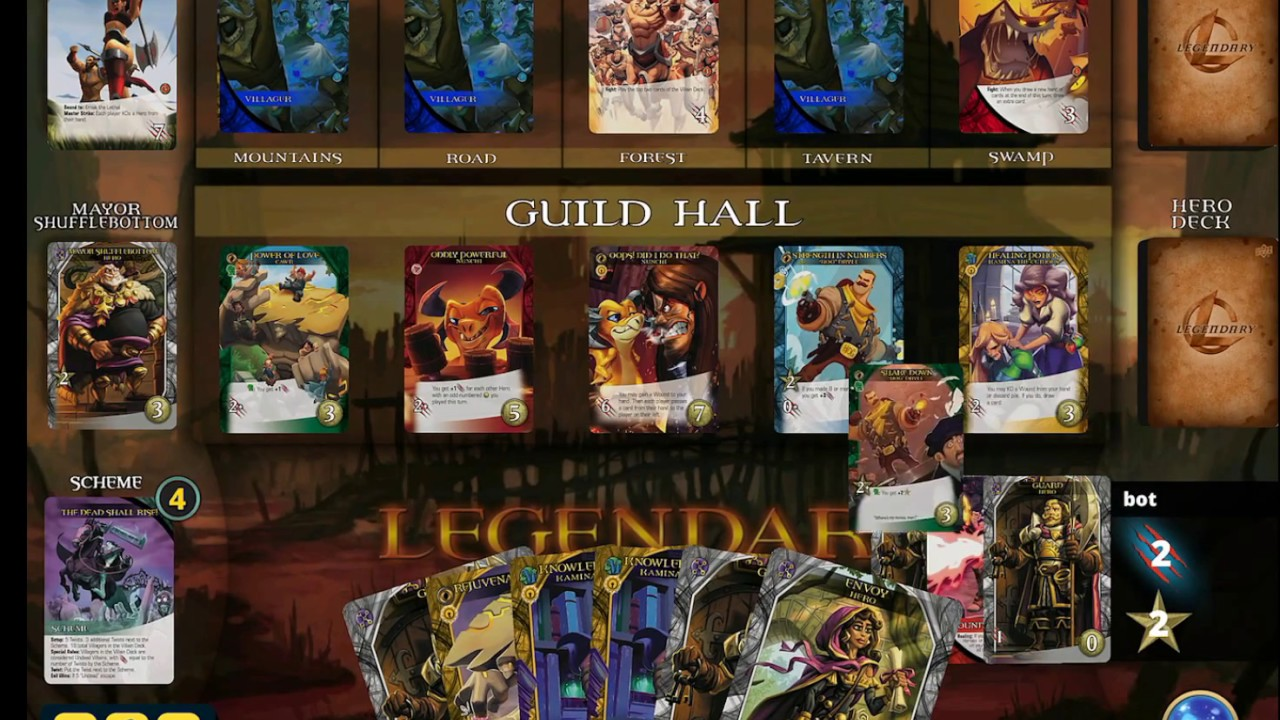 'Legendary DXP,' a Digital Deck-Building Game Based on the Popular Tabletop Version, is Launching Next Week