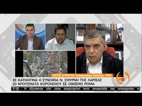 Ο περιφερειάρχης Θεσσαλίας Κ. Αγοραστός για τα κρούσματα σε οικισμό Ρομά στη Λάρισα | 10/04/20 | ΕΡΤ