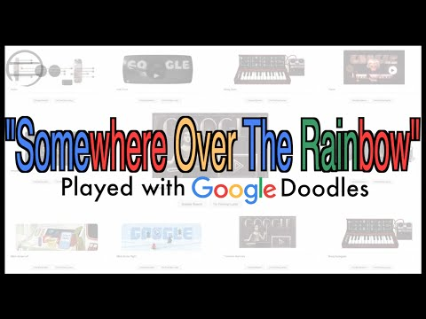 Guy Plays Somewhere Over The Rainbow Using Google