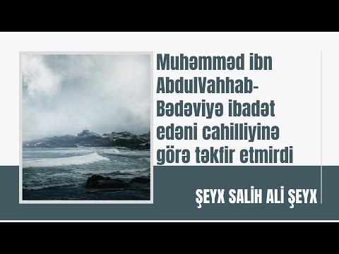 Salih Ali Şeyx - Muhəmməd ibn AbdulVahhab - Bədəviyə ibadət edəni cahilliyinə görə təkfir etmirdi!