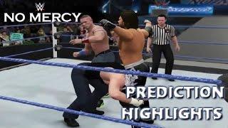 WWE 2K16 AJ Styles vs John Cena vs Dean Ambrose | No Mercy 2016 - Prediction Highlights