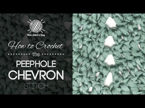 Crochet Stitches Youtube Channel : Peephole chevron baby blanket Bubanana