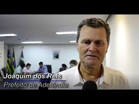 PROJETO GOIÁS NA FRENTE - PREFEITO DE ADELÂNDIA JOAQUIM DOS REIS COM O VICE-GOVERNADOR DE GOIÁS JOSÉ ELITON