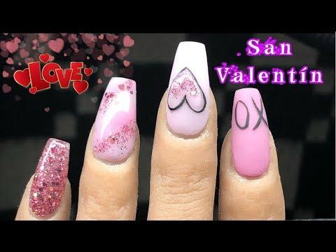 Videos de uñas - Diseño de uñas San Valentín