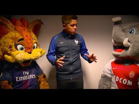 Clinica de Futbol - Duel de mascottes AS Monaco - PSG !