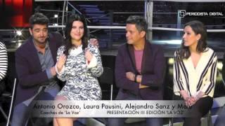PD charla con Alejandro Sanz, Laura Pausini, Malú y Orozco, coaches de 'La Voz'