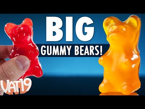 Big Gummy Bears Are 18 Times Larger Than Regular Gummi Bears